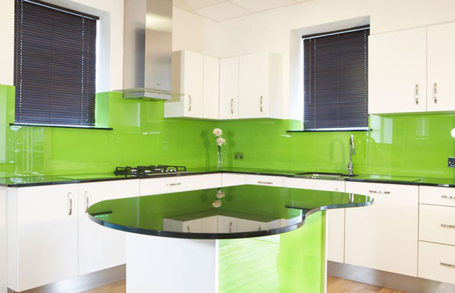 Green Glass Splashback Brighton